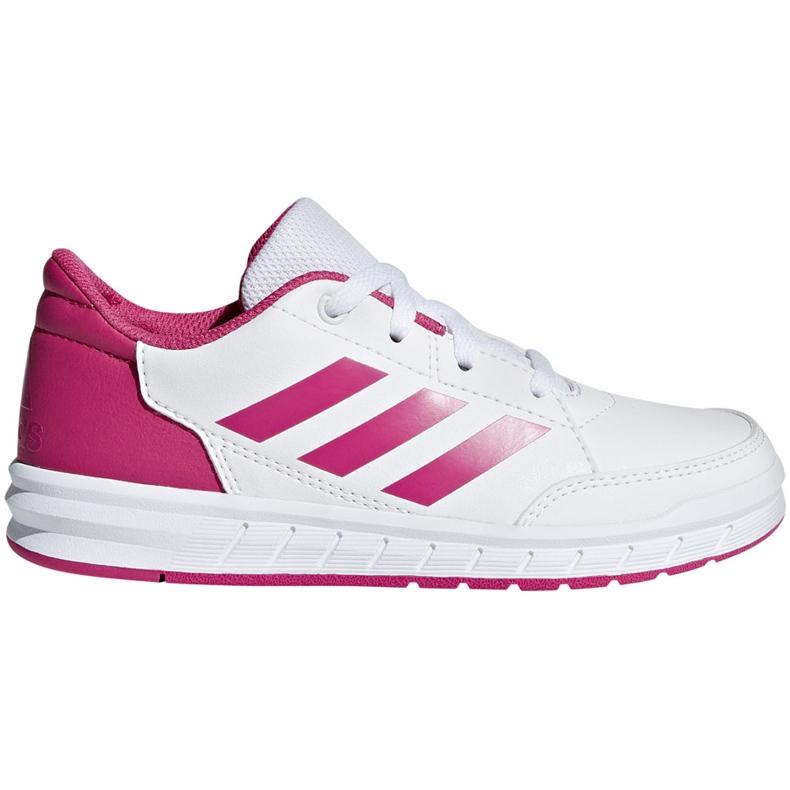 Buty dla dzieci adidas AltaSport K biało różowe D96870 białe