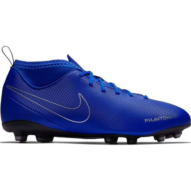 Buty piłkarskie Nike Phantom Vsn Club Df Fg Mg Jr AO3288 400 niebieskie wielokolorowe