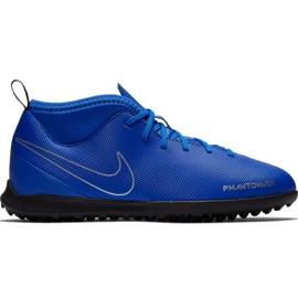 Buty piłkarskie Nike Phantom Vsn Club Df Tf Jr AO3294 400 niebieskie wielokolorowe