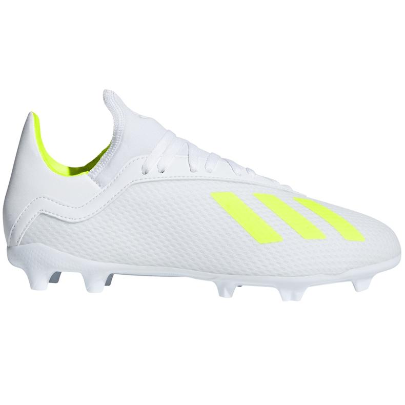 Buty piłkarskie adidas X 18.3 Fg Jr BB9372 białe wielokolorowe