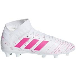 Buty piłkarskie adidas Nemeziz 18.3 Fg Jr CM8506 wielokolorowe białe