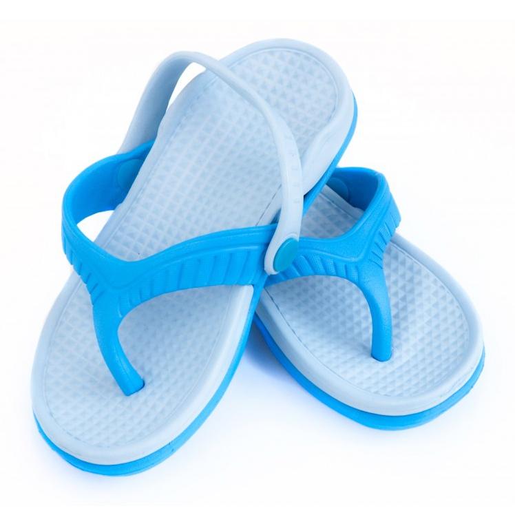 Aqua-Speed Klapki dla dzieci Aqua-sport Roma niebieskie 01 498