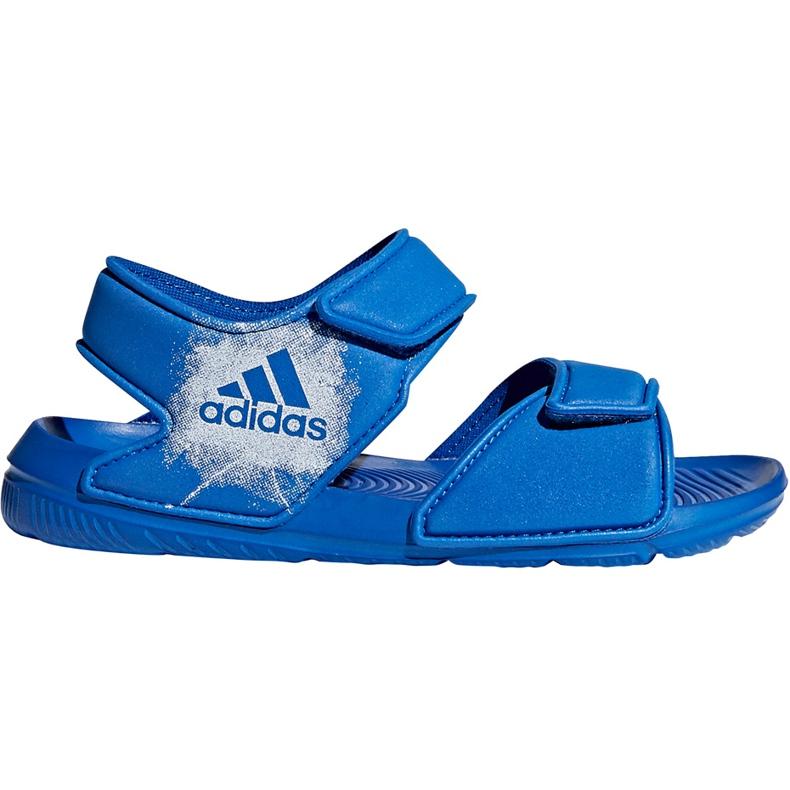 Sandały dla dzieci adidas Alta Swim C BA9289 niebieskie