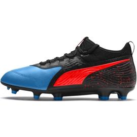 Buty piłkarskie Puma One 19.3 Fg Ag czarno-niebieskie 105486 01 czarne czarne