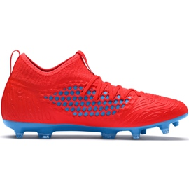 Buty piłkarskie Puma Future 19.3 Netfit Fg Ag czerwono-niebieskie 105539 01 czerwone czerwone