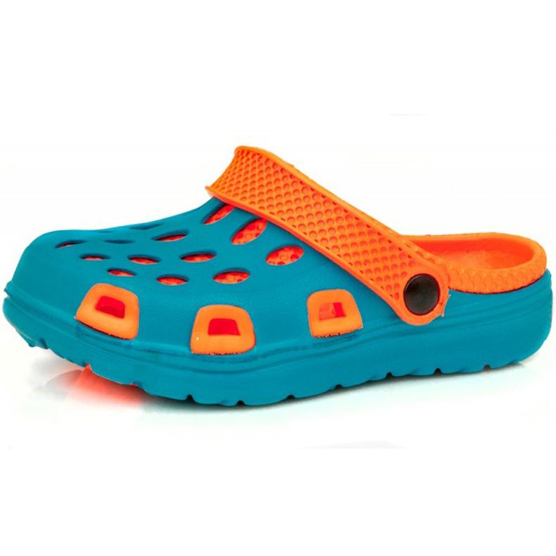 Klapki basenowe dla dzieci Aqua-speed Silvi kol 01 niebiesko pomarańczowe niebieskie