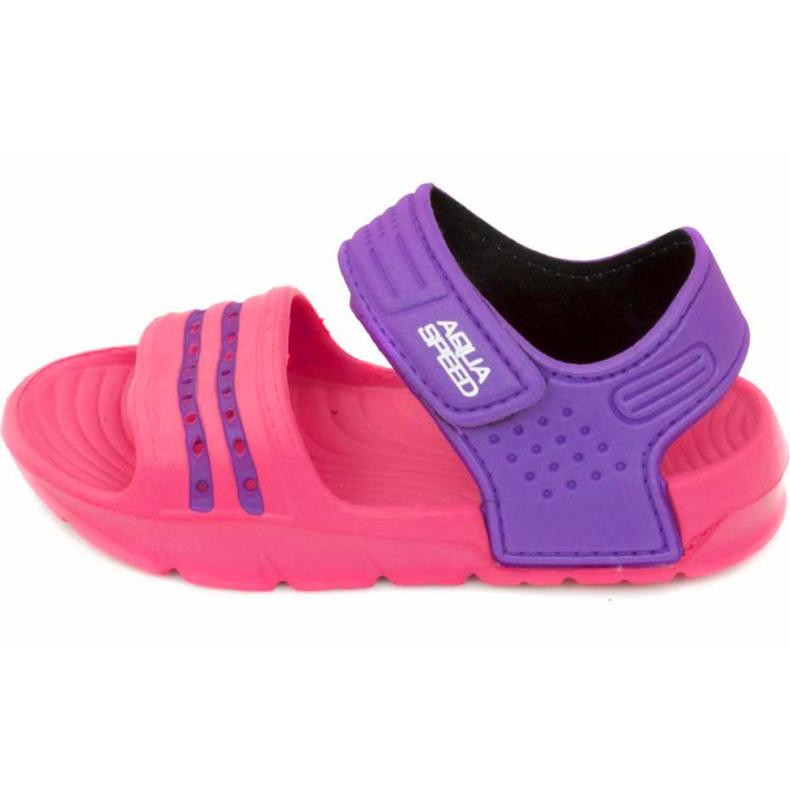 Klapki basenowe dla dzieci Aqua-speed Noli różowo fioletowe kol.39 różowe