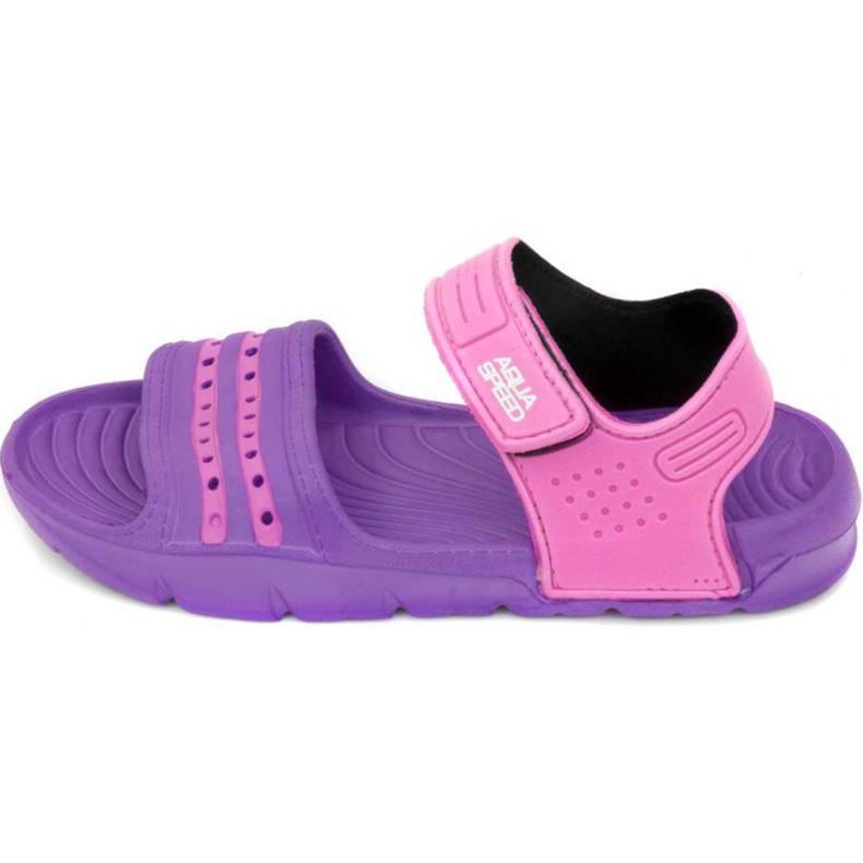 Klapki basenowe dla dzieci Aqua-speed Noli fioletowo różowe kol.93 fioletowe