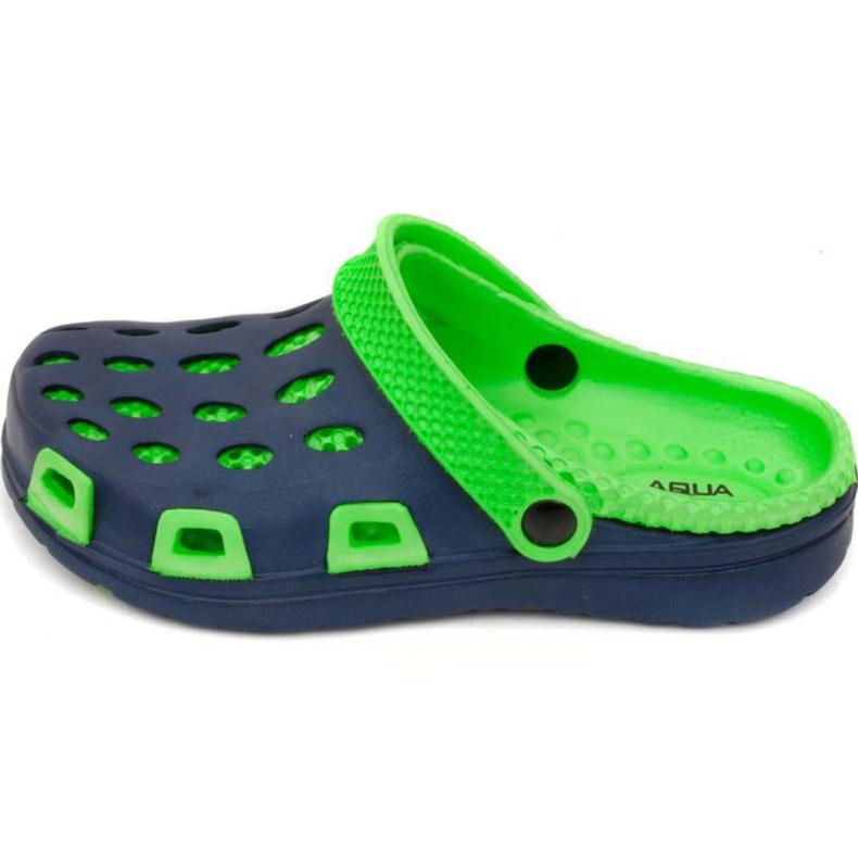 Klapki basenowe dla dzieci Aqua-speed Silvi kol 48 zielono granatowe zielone