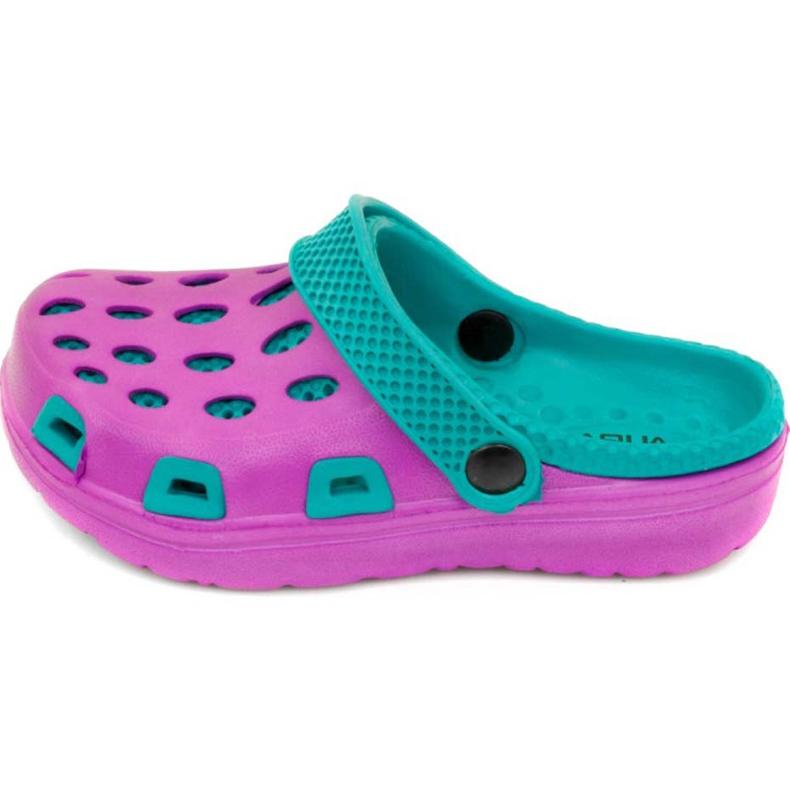 Klapki basenowe dla dzieci Aqua-speed Silvi kol 09 fioletowo niebieskie fioletowe