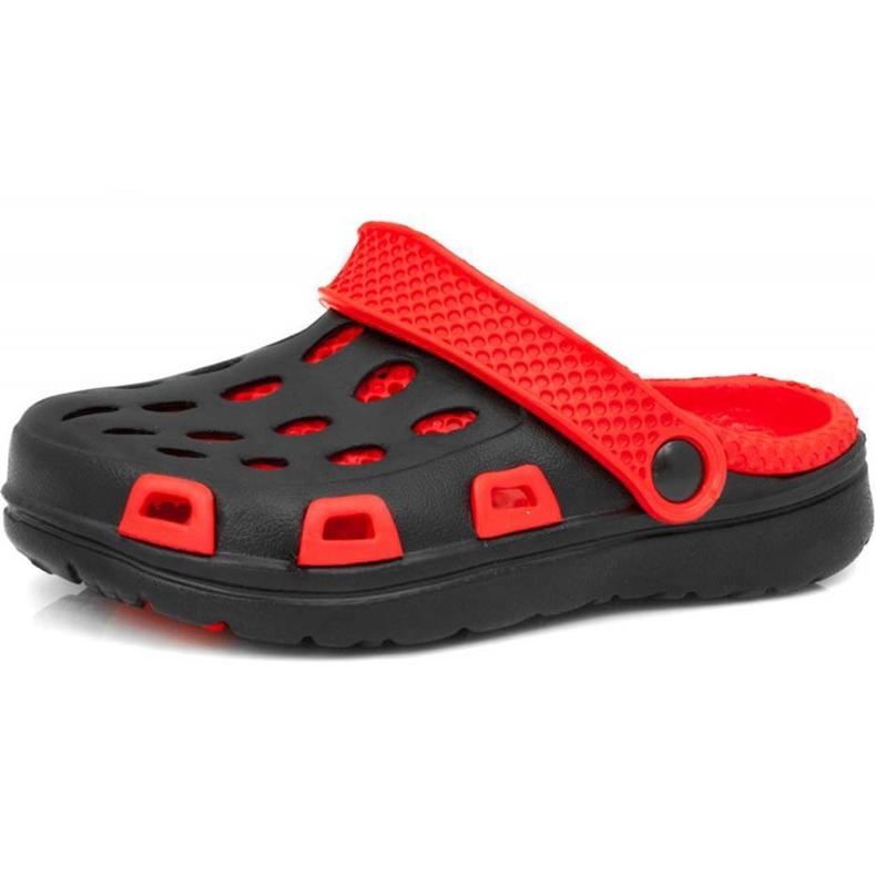 Klapki basenowe dla dzieci Aqua-speed Silvi kol 31 czarno czerwone czarne