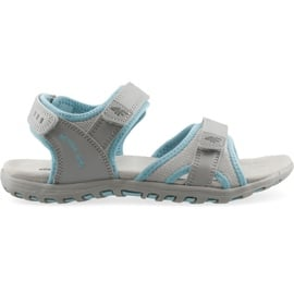 Sandały dla dziewczynki 4F multikolor J4L19 JSAD206 90S niebieskie szare