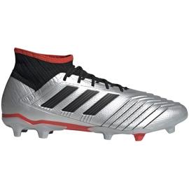 Buty piłkarskie adidas Predator 19.2 Fg srebrne F35601 szare szare