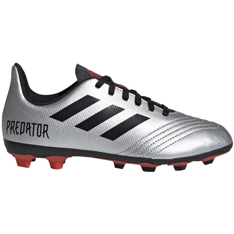 Buty piłkarskie adidas Predator 19.4 FxG Jr srebrne G25822 wielokolorowe srebrny