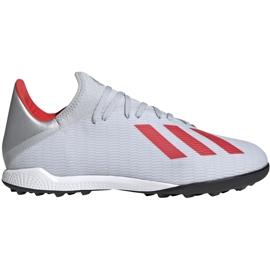 Buty piłkarskie adidas X 19.3 Tf srebrne F35374 wielokolorowe szare