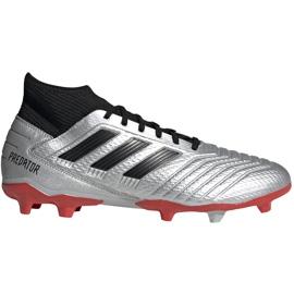 Buty piłkarskie adidas Predator 19.3 Fg srebrne F35595 czerwone srebrny