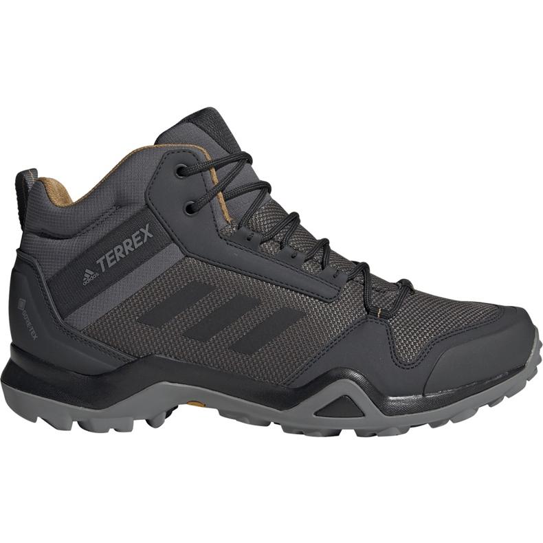 Buty męskie adidas Terrex AX3 Mid Gtx szare BC0468