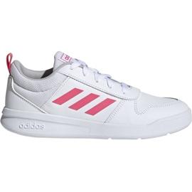 Buty dla dzieci adidas Tensaur K biało-różowe EF1088 białe