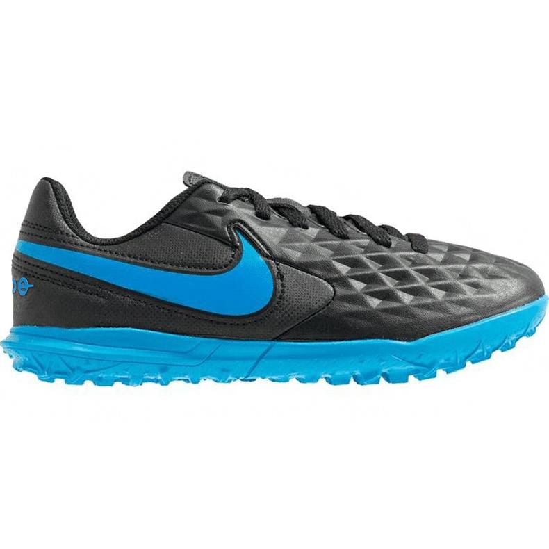 Buty piłkarskie Nike Tiempo Legend 8 Club Tf Junior AT5883 004 czarne czarne