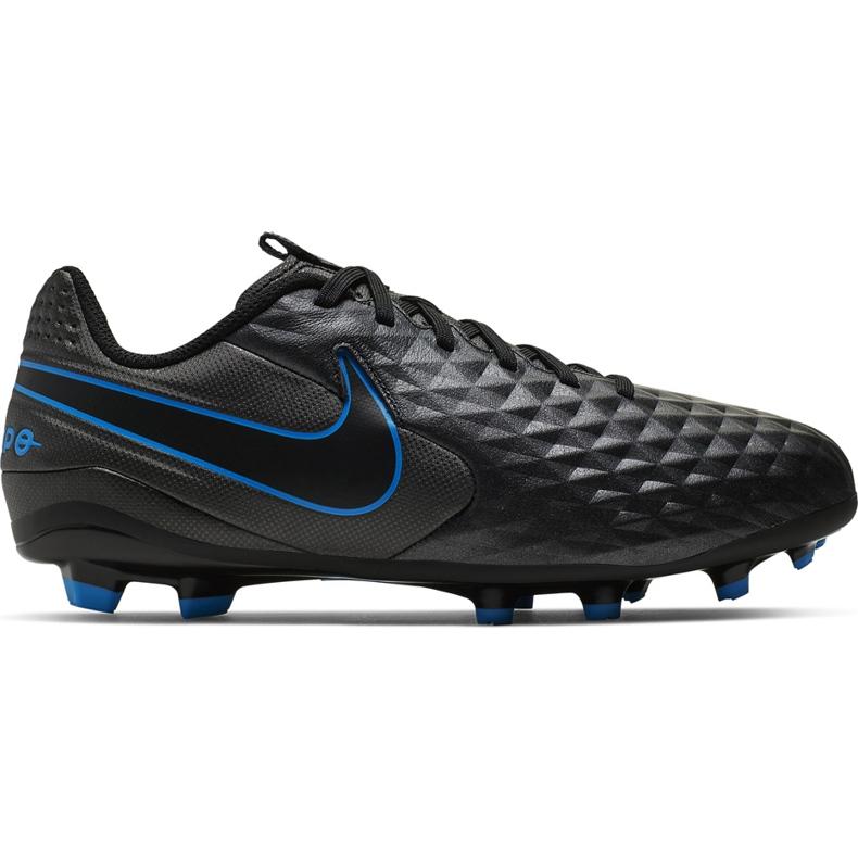 Buty piłkarskie Nike Tiempo Legend 8 Academy FG/MG Junior AT5732 004 czarne czarne