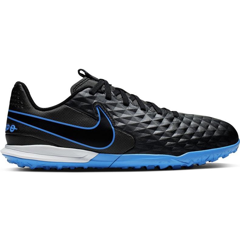 Buty piłkarskie Nike Tiempo Legend 8 Academy Tf Junior AT5736 004 czarne czarne