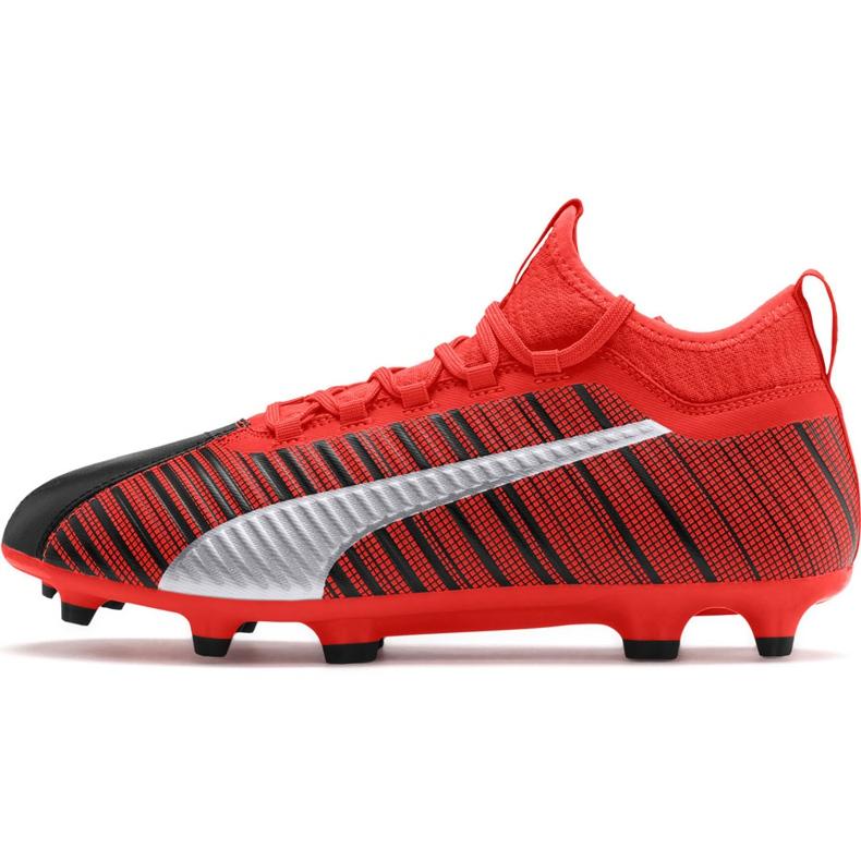 Buty piłkarskie Puma One 5.3 Fg Ag czerwono-czarne 105604 01 czerwone wielokolorowe