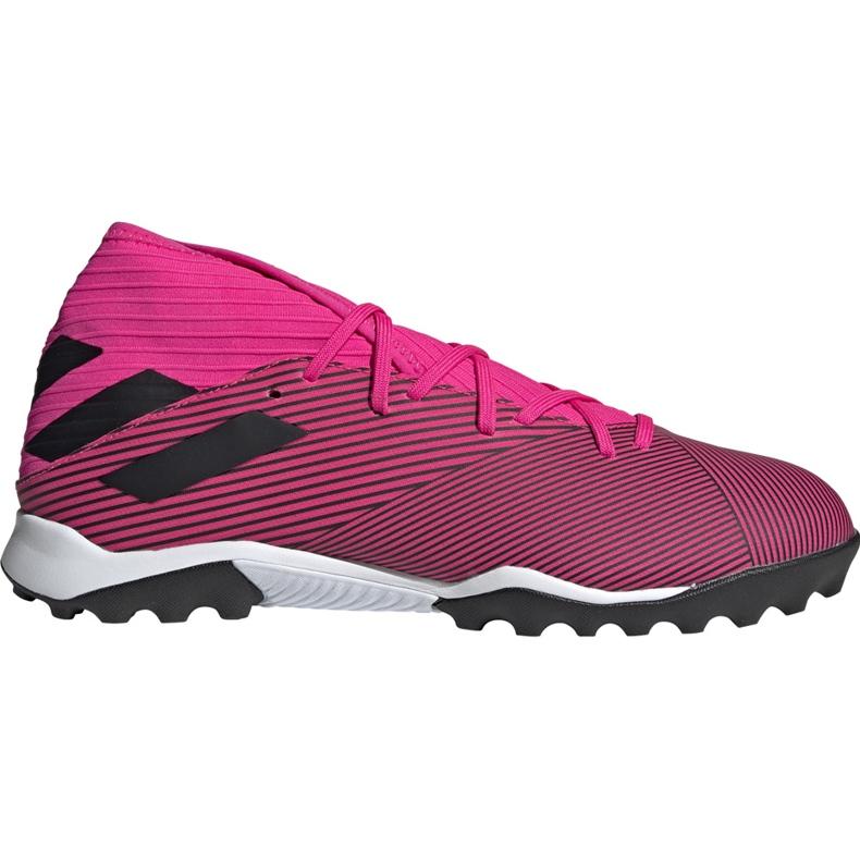 Buty piłkarskie adidas Nemeziz 19.3 Tf różowe F34426 czarne