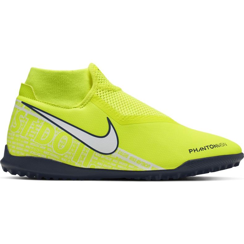 Buty piłkarskie Nike Phantom Vsn Academy Df Tf AO3269 717 żółte żółte
