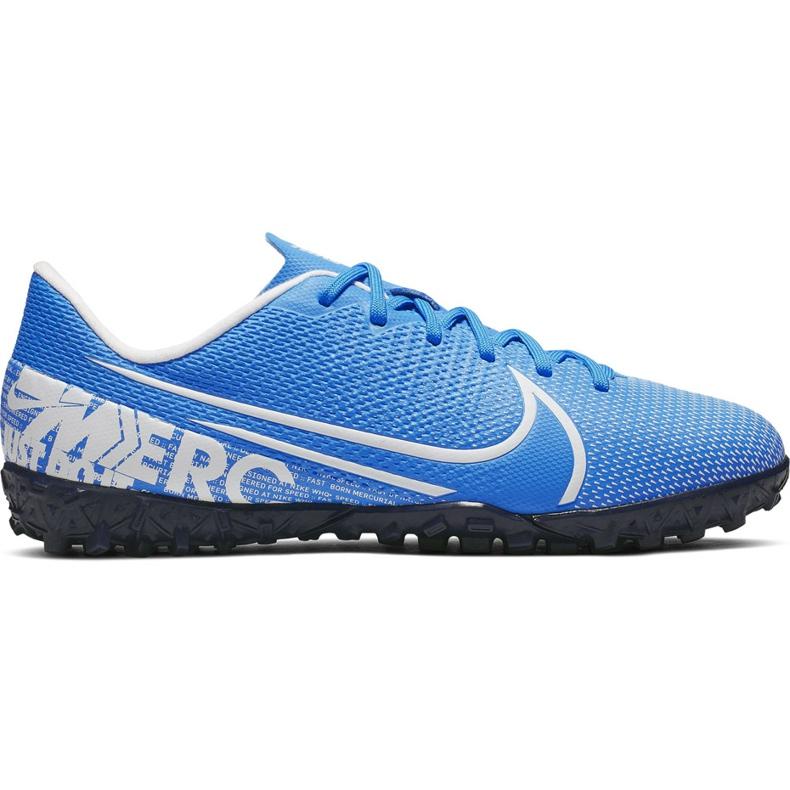 Buty piłkarskie Nike Mercurial Vapor 13 Academy Tf Junior AT8145 414 niebieskie niebieskie