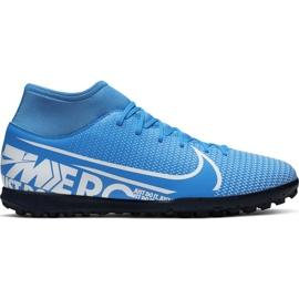 Buty piłkarskie Nike Mercurial Superfly 7 Club Tf Junior AT8156 414 niebieskie