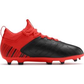 Buty piłkarskie Puma One 5.3 Fg Ag Junior czerwono czarne 105657 01 czerwone wielokolorowe