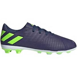 Buty piłkarskie adidas Nemeziz Messi 19.4 FxG Junior EF1816 fioletowe fioletowe