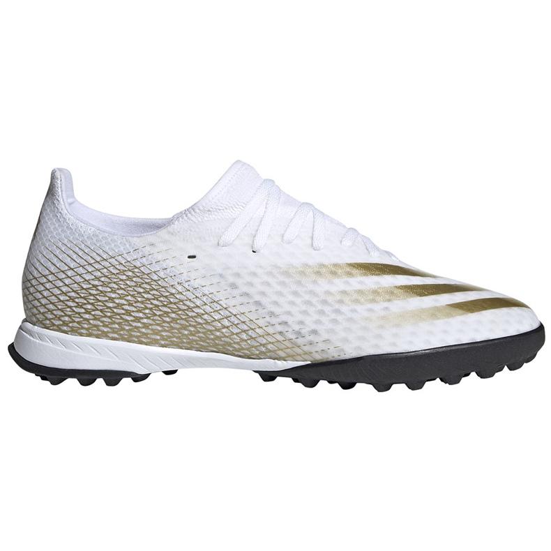 Buty piłkarskie adidas X GHOSTED.3 Tf EG8199 białe białe