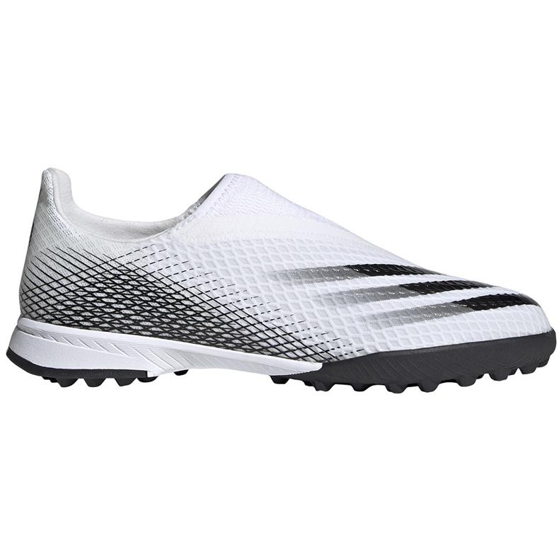Buty piłkarskie adidas X GHOSTED.3 Ll Tf Junior EG8150 białe ['biały']