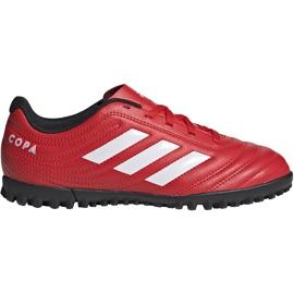 Buty piłkarskie adidas Copa 20.4 Tf czerwone Junior EF1925