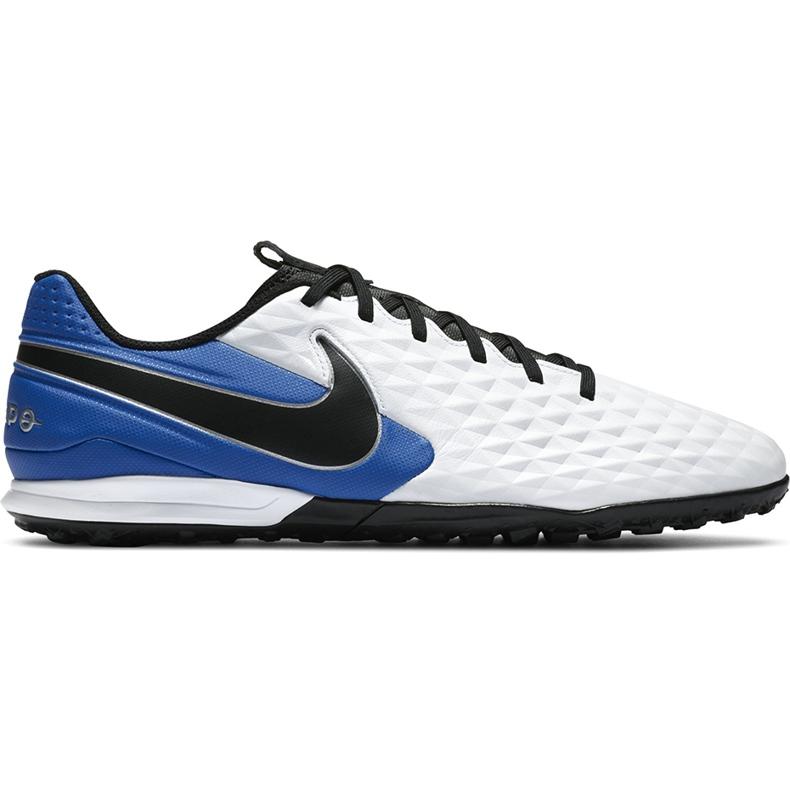 Buty piłkarskie Nike Tiempo Legend 8 Academy Tf AT6100 104 niebieskie białe