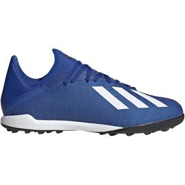 Buty piłkarskie adidas X 19.3 Tf EG7155 niebieskie niebieskie
