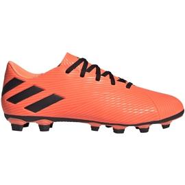Buty piłkarskie adidas Nemeziz 19.4 FxG pomarańczowe EH0302