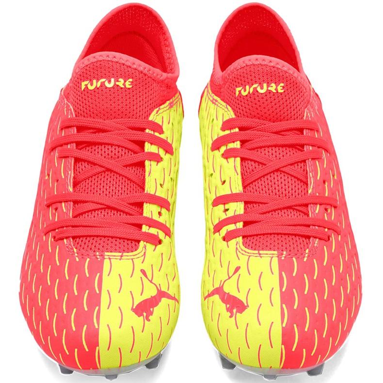 Buty piłkarskie dla dzieci Puma Future 5.4 Osg Fg Ag 105949 01 czerwone żółte