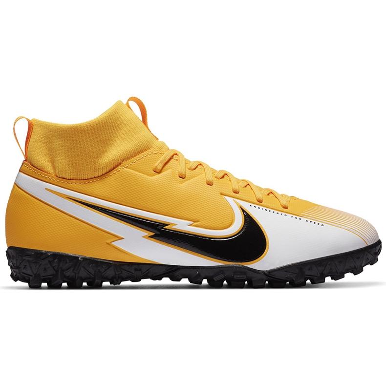Buty piłkarskie Nike Mercurial Superfly 7 Academy Tf Junior AT8143 801 żółte pomarańczowe