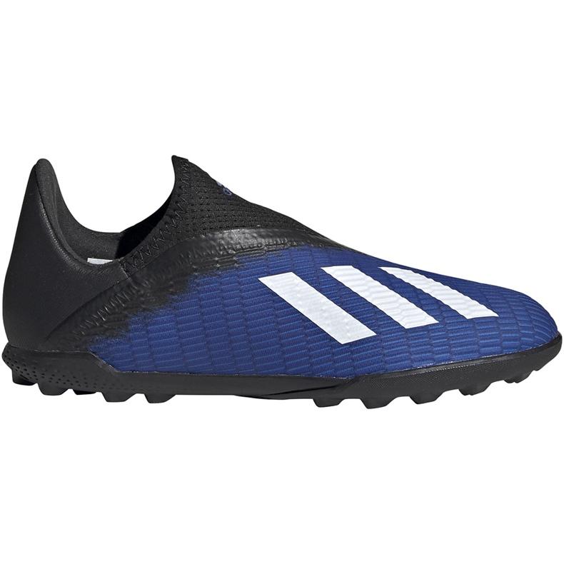Buty piłkarskie adidas X 19.3 Ll Tf Jr EG9839 niebieskie niebieskie