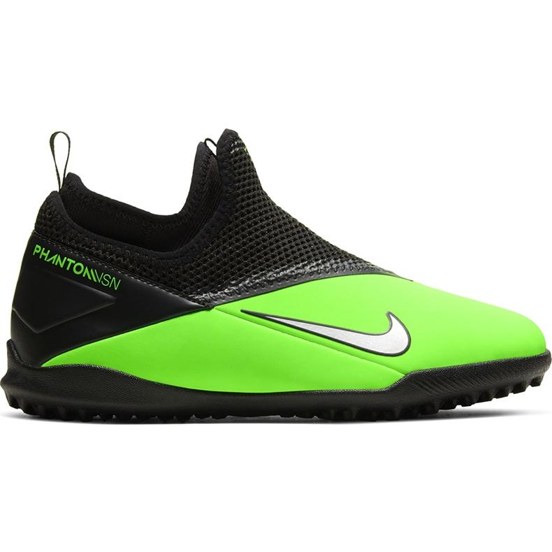 Buty piłkarskie Nike Phantom Vsn 2 Academy Df Tf Junior CD4078 306 zielone wielokolorowe