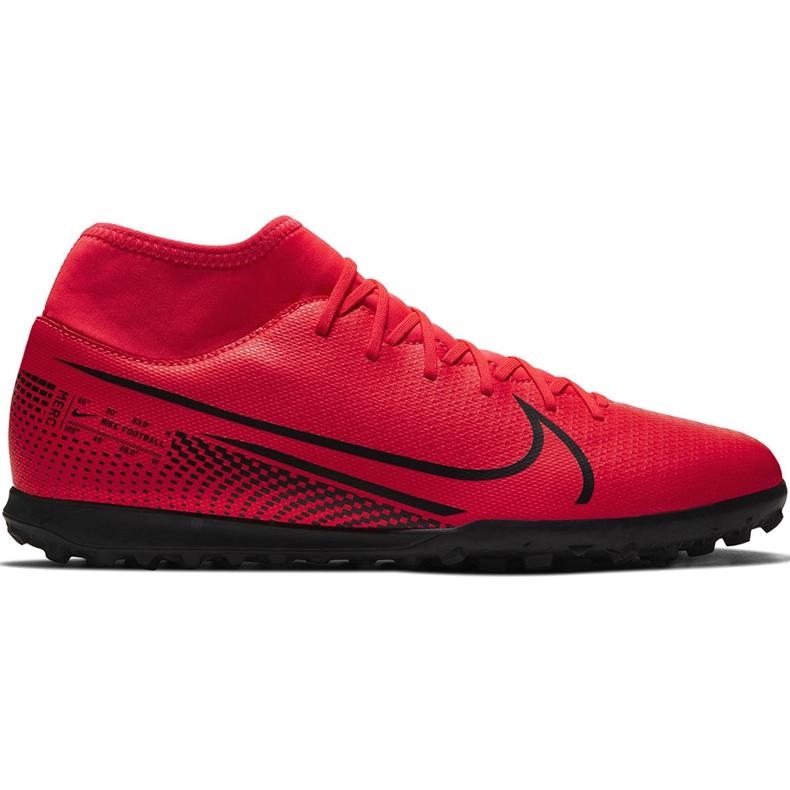 Buty piłkarskie Nike Mercurial Superfly 7 Club Tf AT7980 606 czerwone czerwone