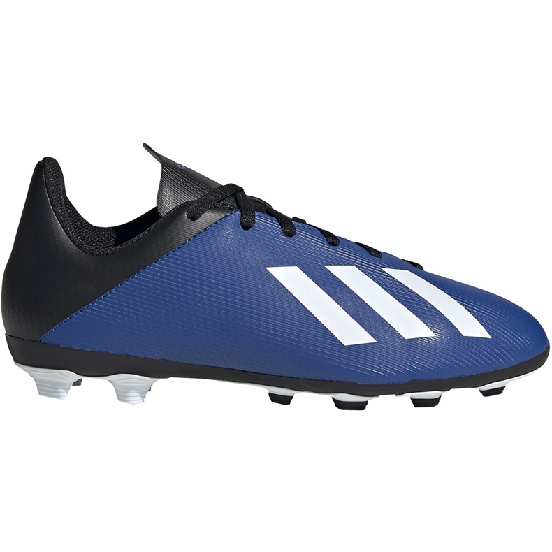 Buty piłkarskie adidas X 19.4 FxG Junior niebiesko-czarne EF1615 niebieskie niebieskie