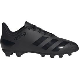 Buty piłkarskie adidas Predator 20.4 FxG Jr EF1932 czarne czarne