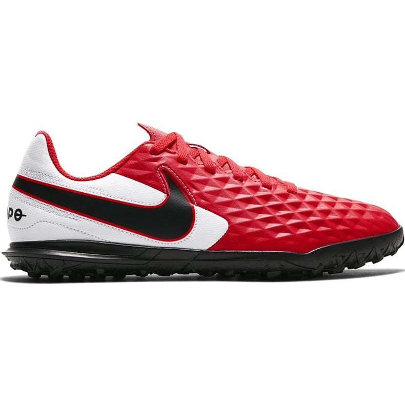 Buty piłkarskie Nike Tiempo Legend 8 Club Tf Junior AT5883 606 czerwone czerwone