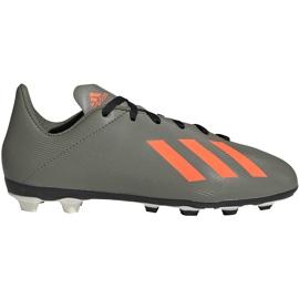 Buty piłkarskie adidas X 19.4 FxG Jr zielone EF8377 wielokolorowe szare