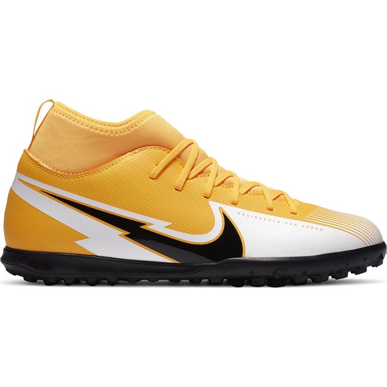 Buty piłkarskie Nike Mercurial Superfly 7 Club Tf Junior AT8156 801 żółte pomarańczowe