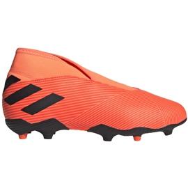 Buty piłkarskie adidas Nemeziz 19.3 Ll Fg Junior EH0488 pomarańczowe pomarańczowe