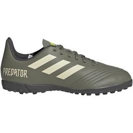 Buty piłkarskie adidas Predator 19.4 Tf Jr EF8222 zielone wielokolorowe